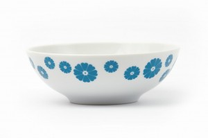 Turquoise Hearts bowl