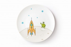 Space rocket, plate