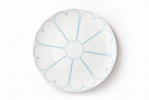 Turquoise Hearts plate